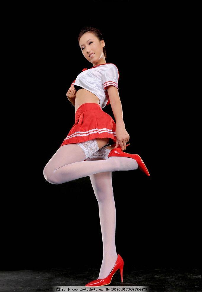 服装广告 服饰广告 人物摄影 写真 裙子 短裙 连衣裙 丝袜 白色丝袜