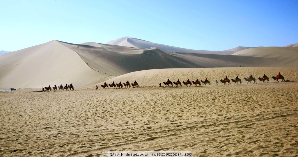驼铃声声 风光摄影 沙漠风光 自然风景 自然景观 摄影 350dpi jpg