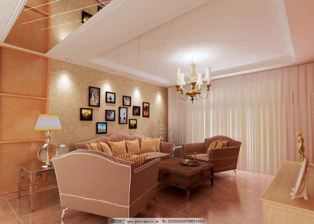 复式客厅 沙发设计 客厅效果 灯光效果 沙发背景墙 复式结构 吊灯设计