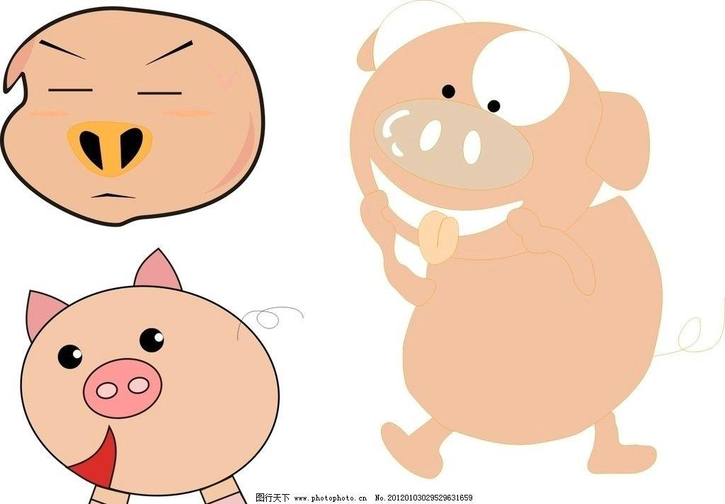 猪 小猪 卡通猪 猪头 可爱猪 广告设计 矢量 cdr