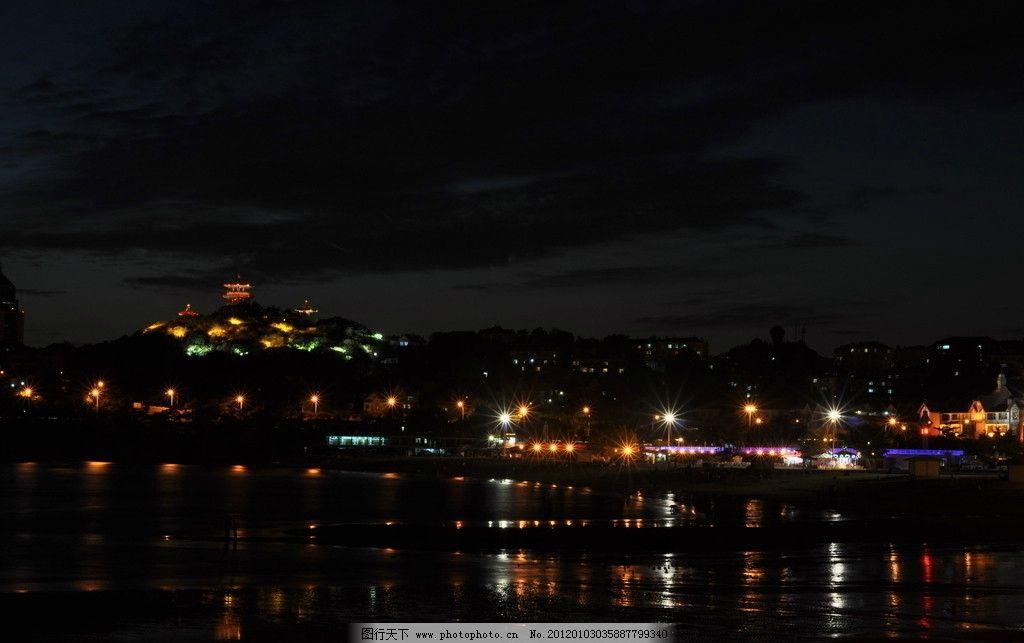 海边夜景 摄影 夜景 海边 青岛 一浴 节日庆祝 文化艺术 300dpi jpg