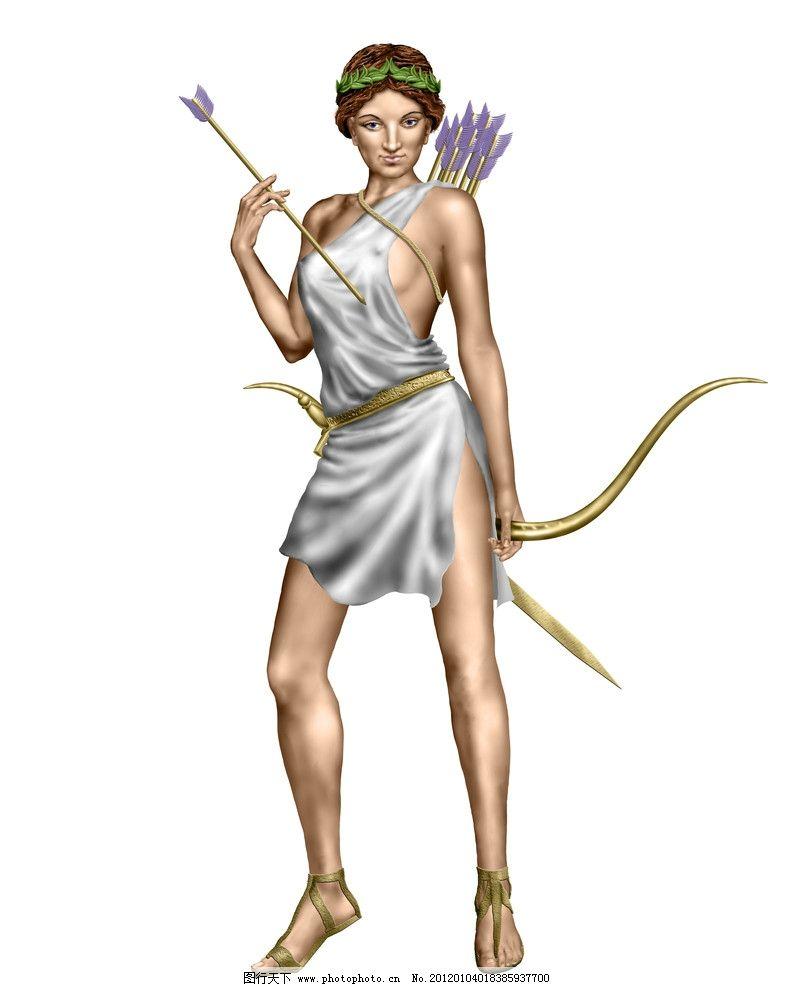 希腊弓箭手图片_动漫人物_动漫卡通_图行天下图库