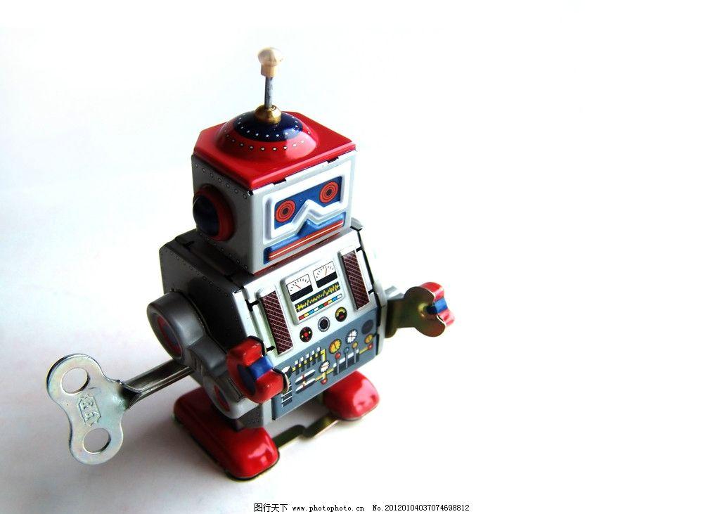 迷你机器人 发条 机器人 可爱机器人 生活素材 生活百科 摄影 72dpi