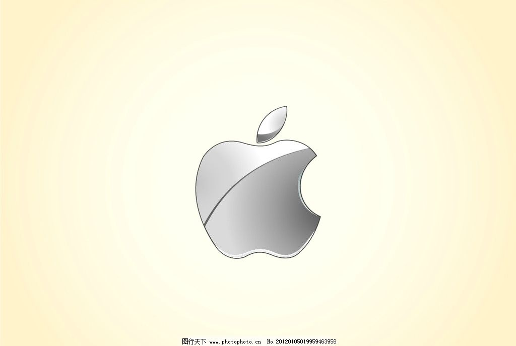 金属苹果logo 金属质感 苹果      标志 企业logo标志 标识标志图标