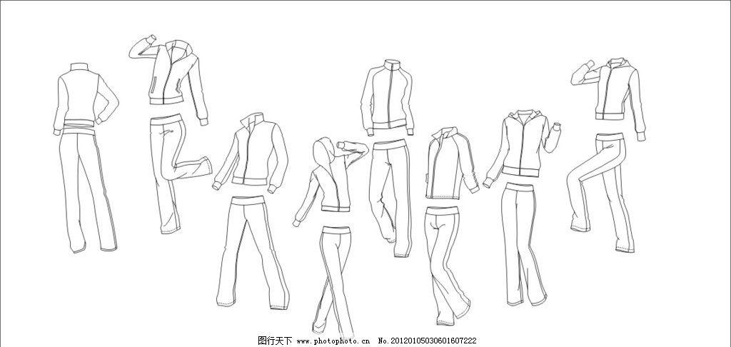 运动服设计版型图片_服装设计_广告设计_图行天下图库