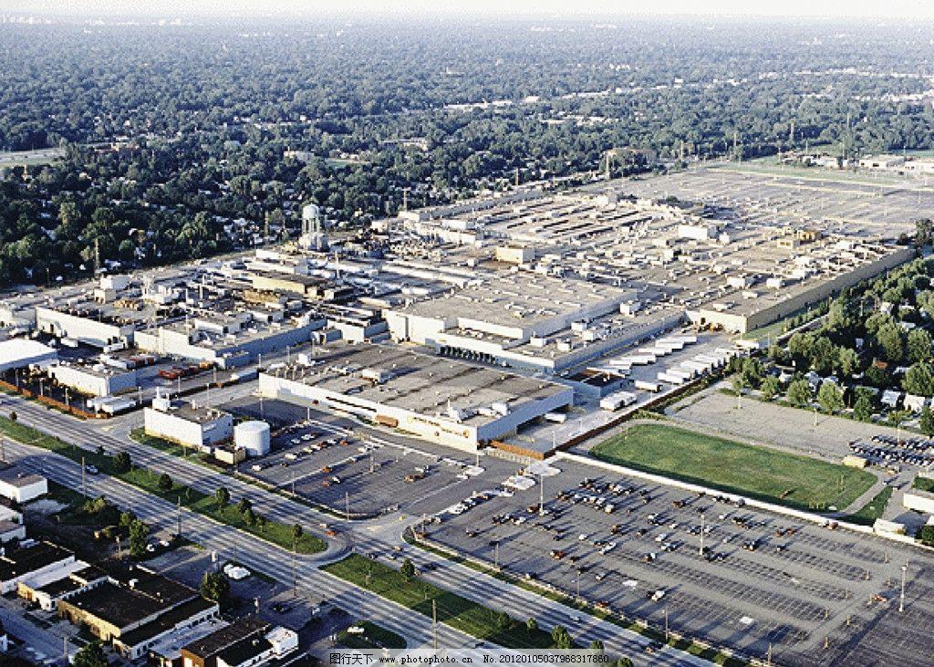 奔驰 工厂 工业基地 工业园 航拍 厂房 车间 加工厂 工业生产 现代