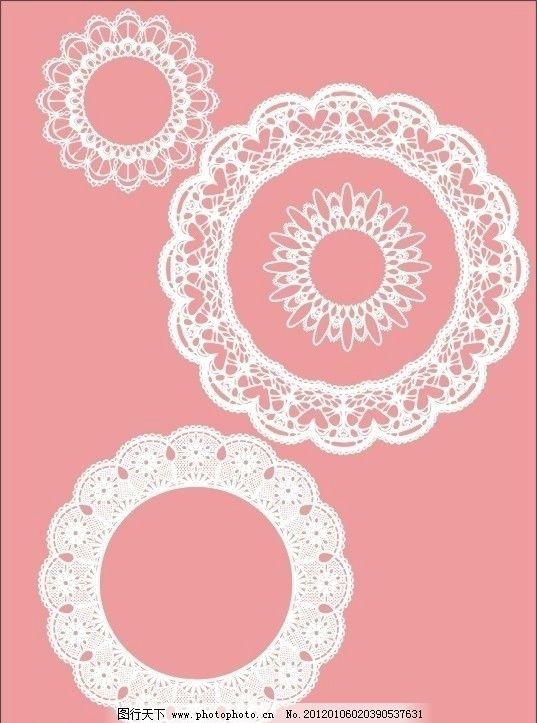 蕾丝花边 白色 粉红色 可爱花边 花纹花边 底纹边框 矢量 cdr
