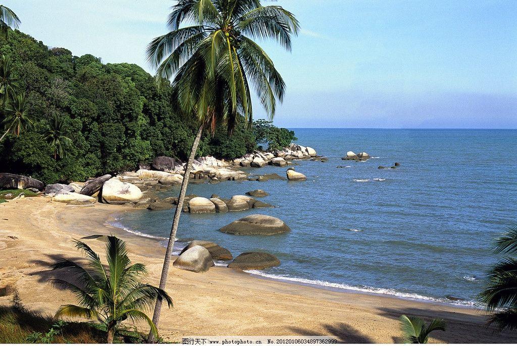 海边风光 海边 海边风景 礁石 沙滩 海滩 海浪 天空 白云 海岸 海水 海景 海湾 风景 大自然 美景 自然风景 自然景观 摄影 300DPI JPG
