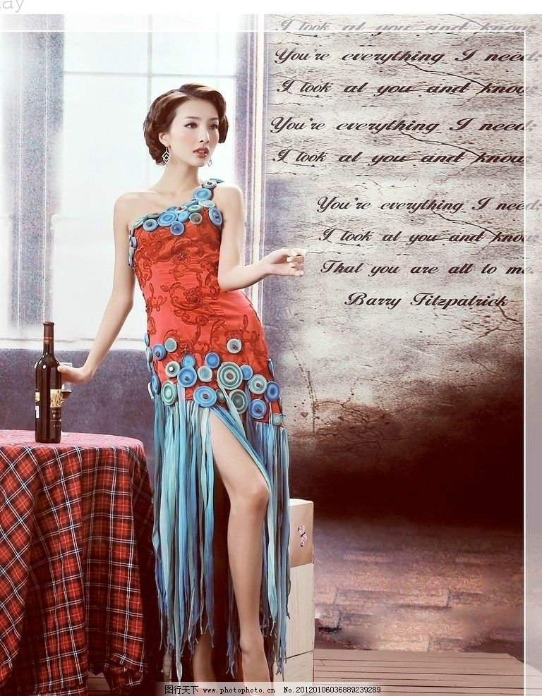 红酒 优雅 女人(5)