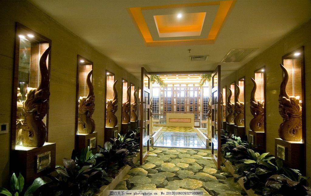 走廊 走道 装修 装饰 宾馆 酒店 会所 会馆 装潢 室内 雕塑
