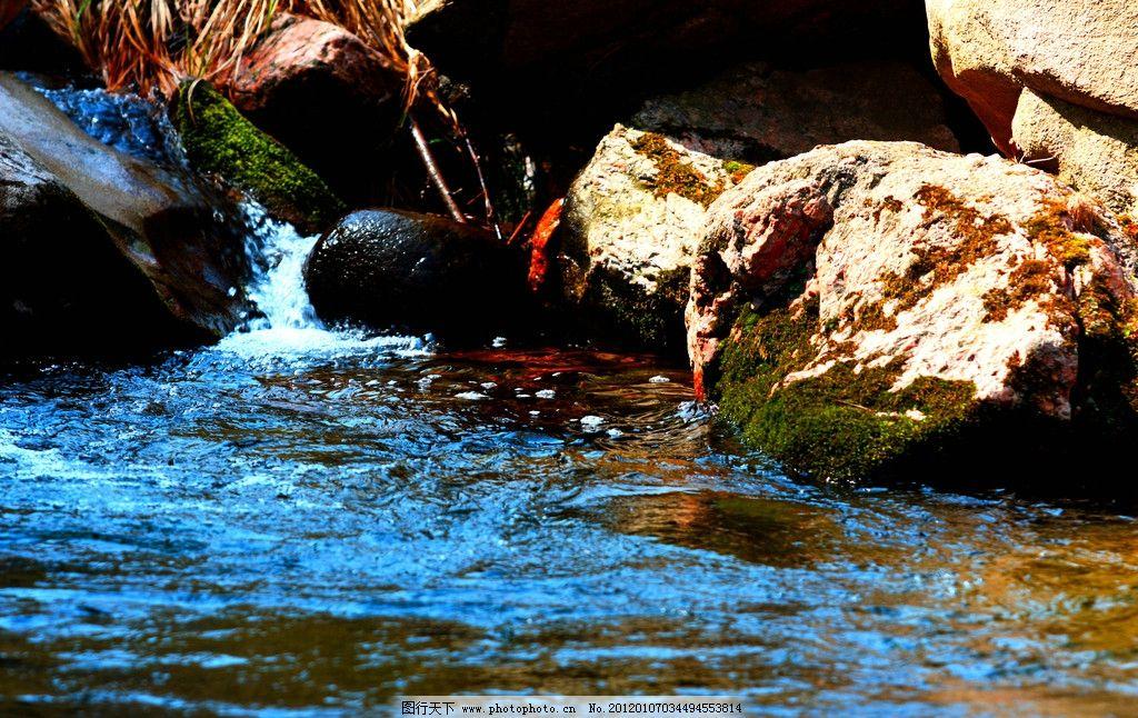 小溪 流水 光影 青苔 摄影作品 山水风景 自然景观 摄影 72dpi jpg