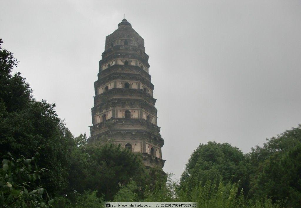 苏州虎丘景点斜塔图片