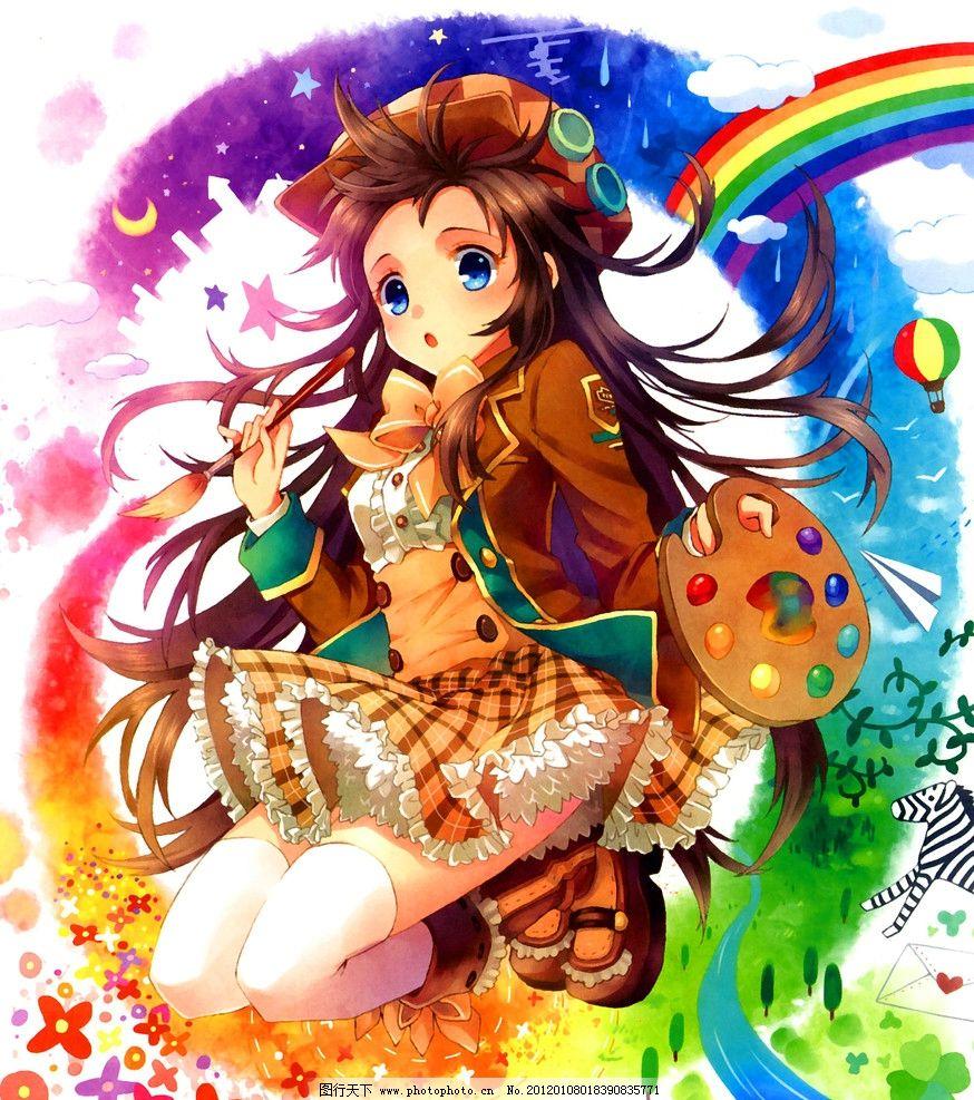 画画 女孩 童话 卡通 绘本 手绘 艺术 油画 趣味 儿童画 绘画 插图 萌