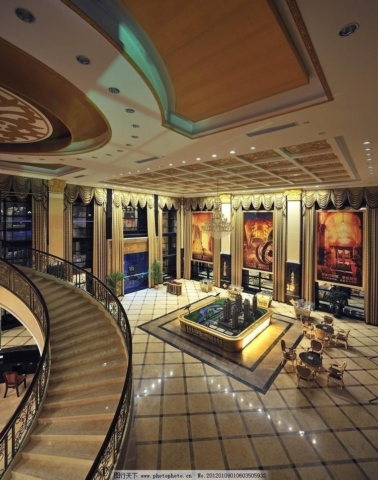 灯饰 地板 地砖 吊顶 售楼处图片素材下载 售楼处 销售中心 大堂 沙盘