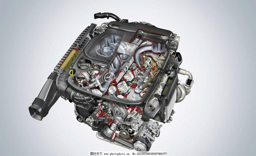发动机 机械 零件 部件 设备 涡轮 结构 构造 名车 交通工具 现代科技