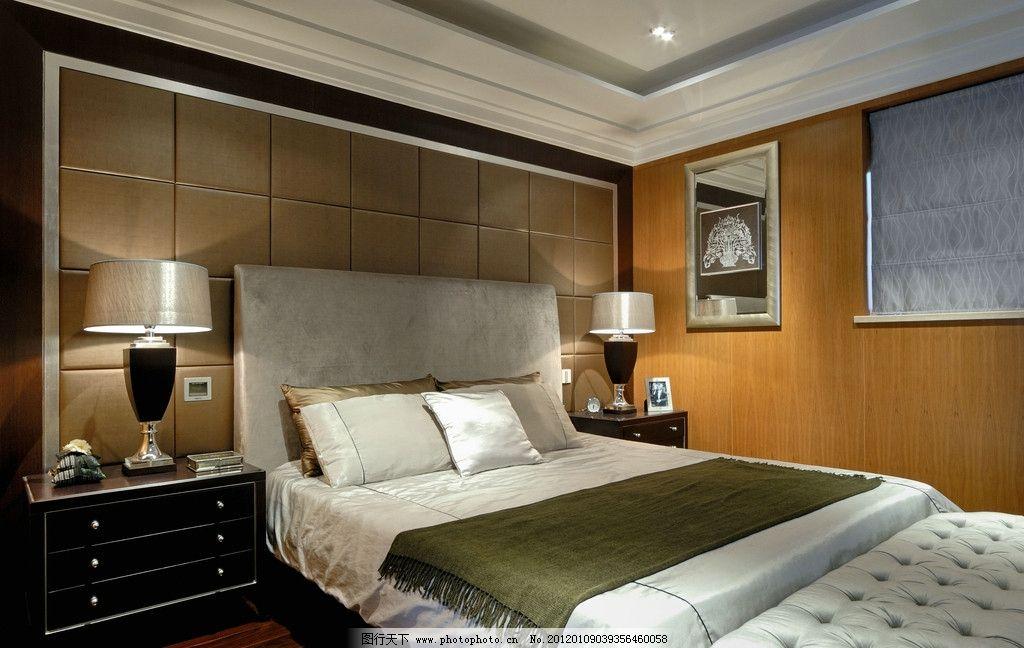 卧室图片      靠枕 枕头 装饰品 灯具设计 背墙 瓷砖铺贴样板间铺砖