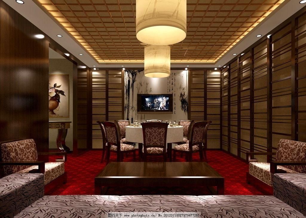 中式餐馆 室内效果图 吊顶 中式装修 酒店 包间效果图 室内设计 环境图片