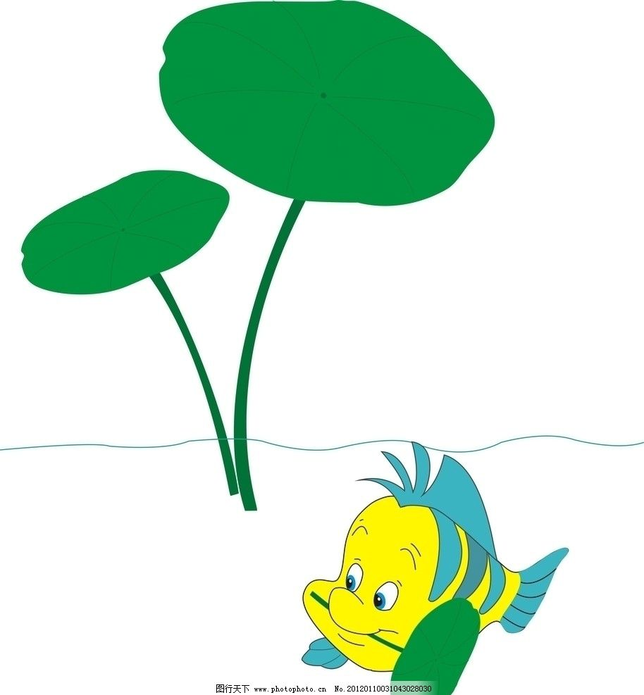 鱼荷 鱼 荷 荷叶 其他设计 广告设计 矢量 cdr