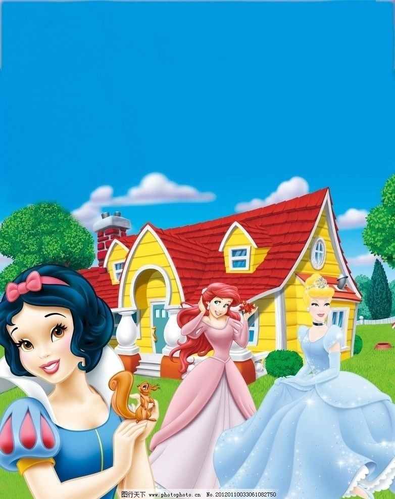 矢量 小花 迪士尼 可爱 psd 草地 休闲 时尚 漂亮 精品迪斯尼公主封面