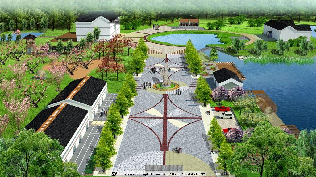 效果圖 十字路口 景觀園林設計 景觀設計 環境設計 馬路設計 道路設計