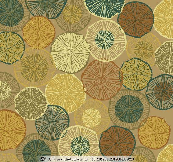 四方印花纹理图案 肌理 四方连续 印花图案 套色 设计感 几何 柠檬状