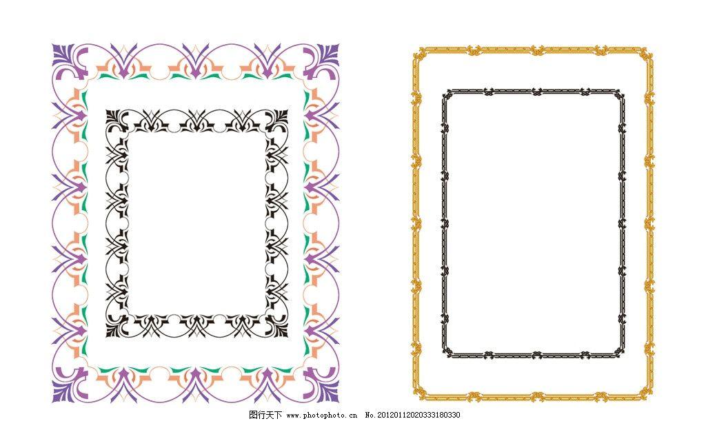装饰 纹饰 装饰花纹 时尚边框花边 国外精致花纹图案 顶饰 标题类缎带