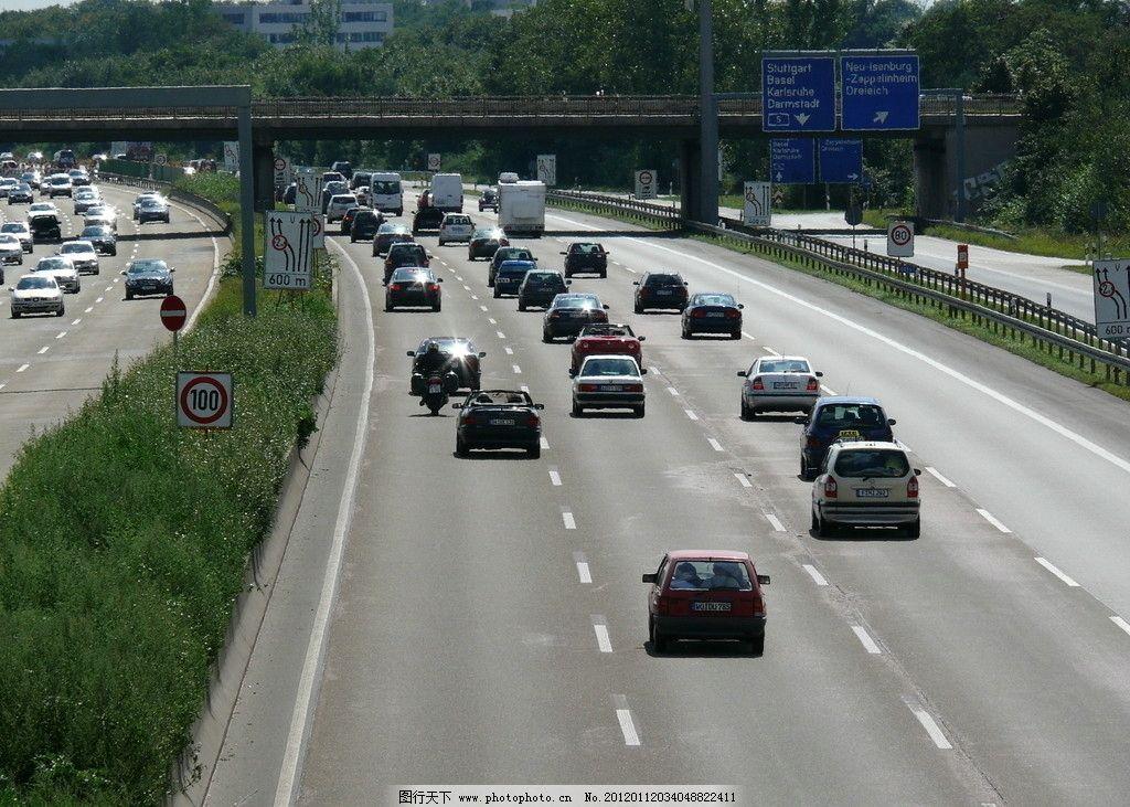 国外高速公路车流 国外 高速公路 车流 汽车 车道 国外旅游 旅游摄影