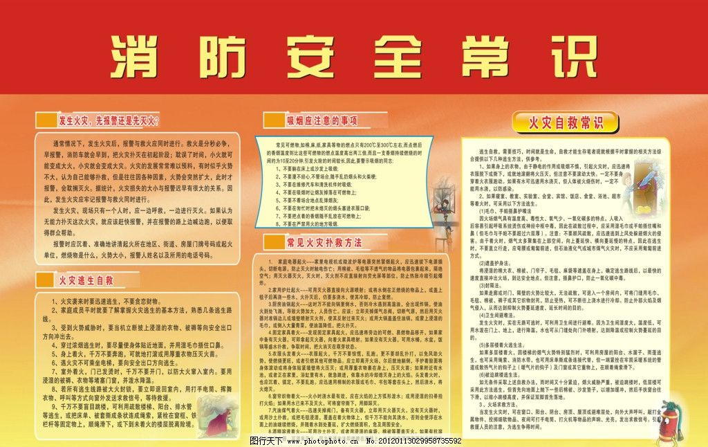 消防安全知识资料图片