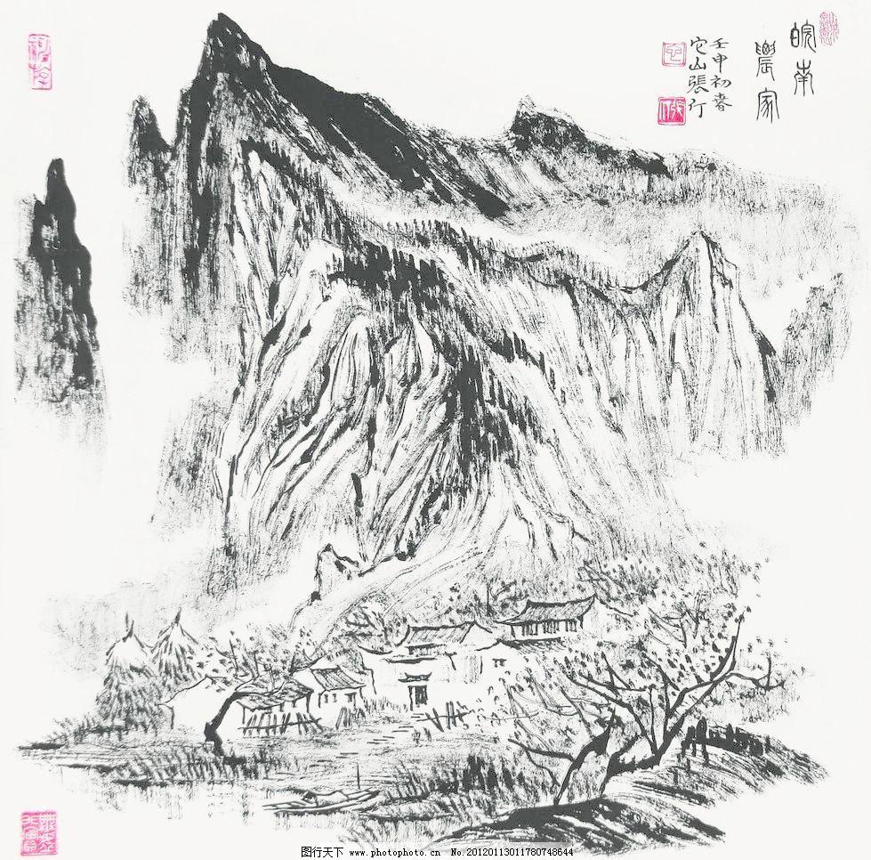 绘画 绘画书法 山水画设计素材 山水画模板下载 山水画 国画 中国画