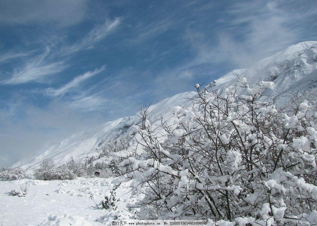 大雪封山 大雪 高山 雪景 山水风景 自然景观 摄影 180dpi jpg