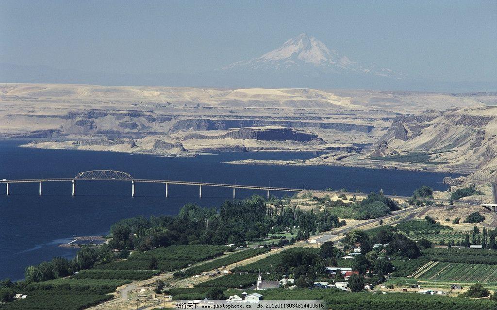 设计图库 自然景观 自然风景  大桥 原野 乡村 野外 海边 城市 群山