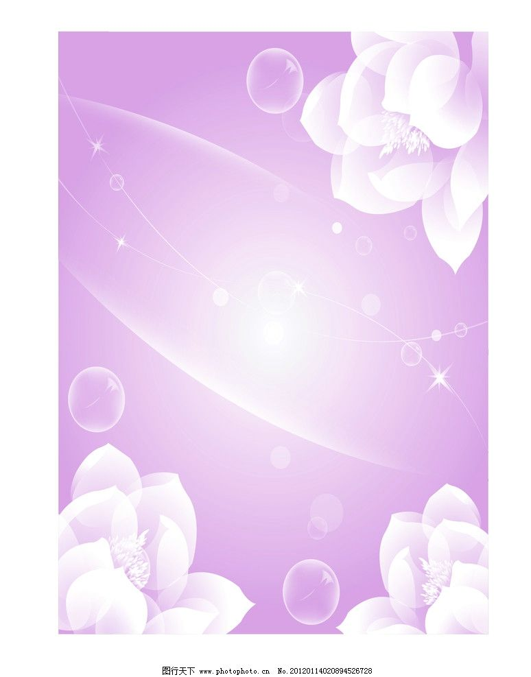 透明花朵 茶花 荷花 白色花朵 花朵 移门图 透明球 其他 底纹边框