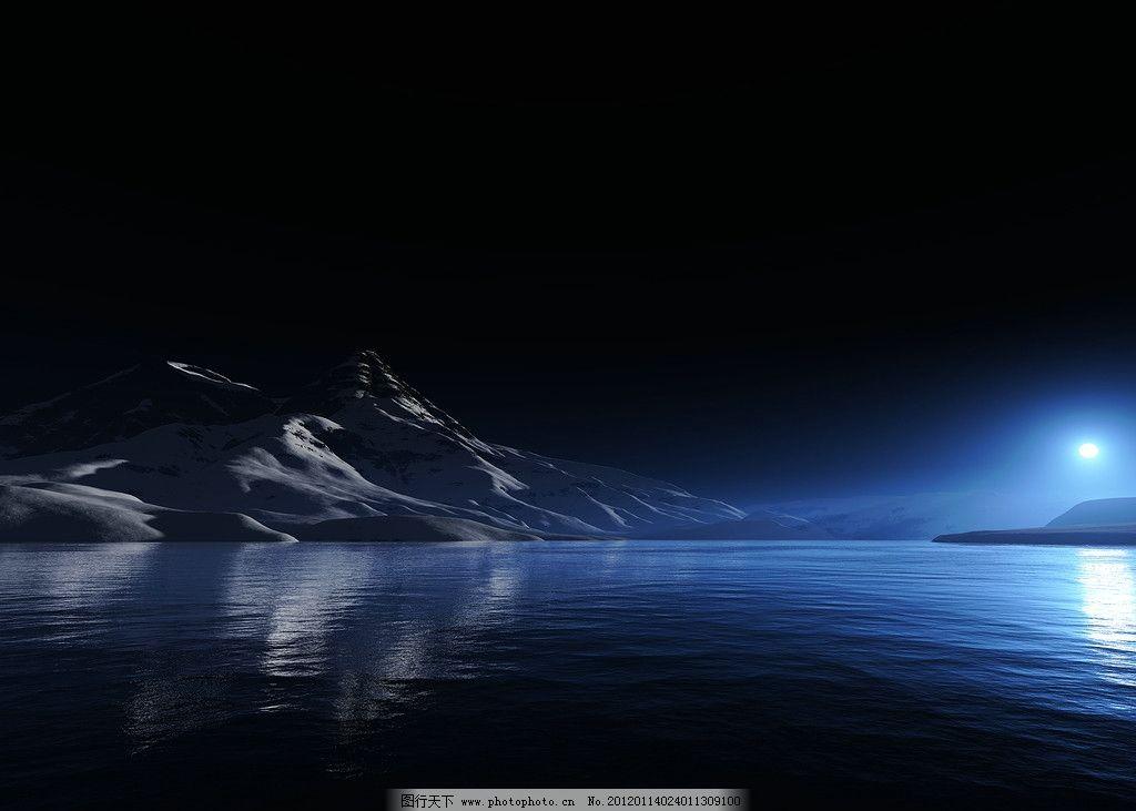 高清电路板渲染湖面