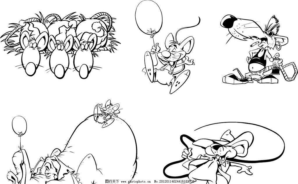 大象站立可爱的动物简笔画