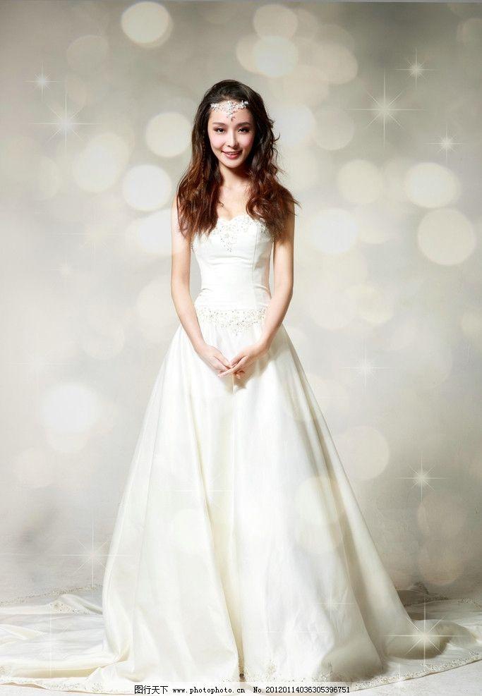 李曼 明星 美女 谋女郎 长发 白色礼服 明星偶像 人物图库 摄影