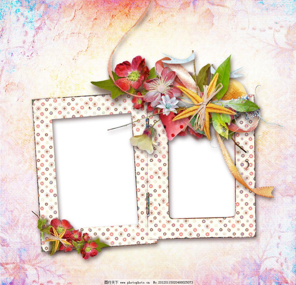 花朵相框模板 花朵相框 花朵 叶子 相框 相框相片 模板设计 花纹 花朵