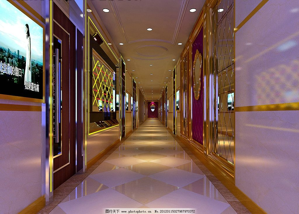 ktv室內圖 包廂 過道 走廊 室內設計 環境設計 設計 72dpi jpg