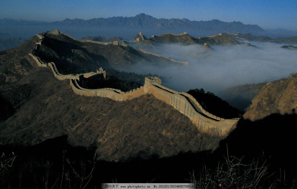 金山岭长城 金山岭长城上 长城 北京长城 雄伟 绵延 暖色调 近景 弯