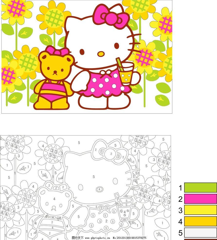 中国娃 图纸 凯啼猫和熊 其他 源文件库 源文件 装饰画 diy 手工 工艺