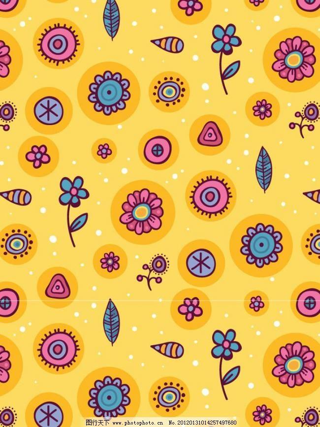 矢量底纹 面料印花 布纹 刺绣 动物 动物图案 二方连续图 服饰