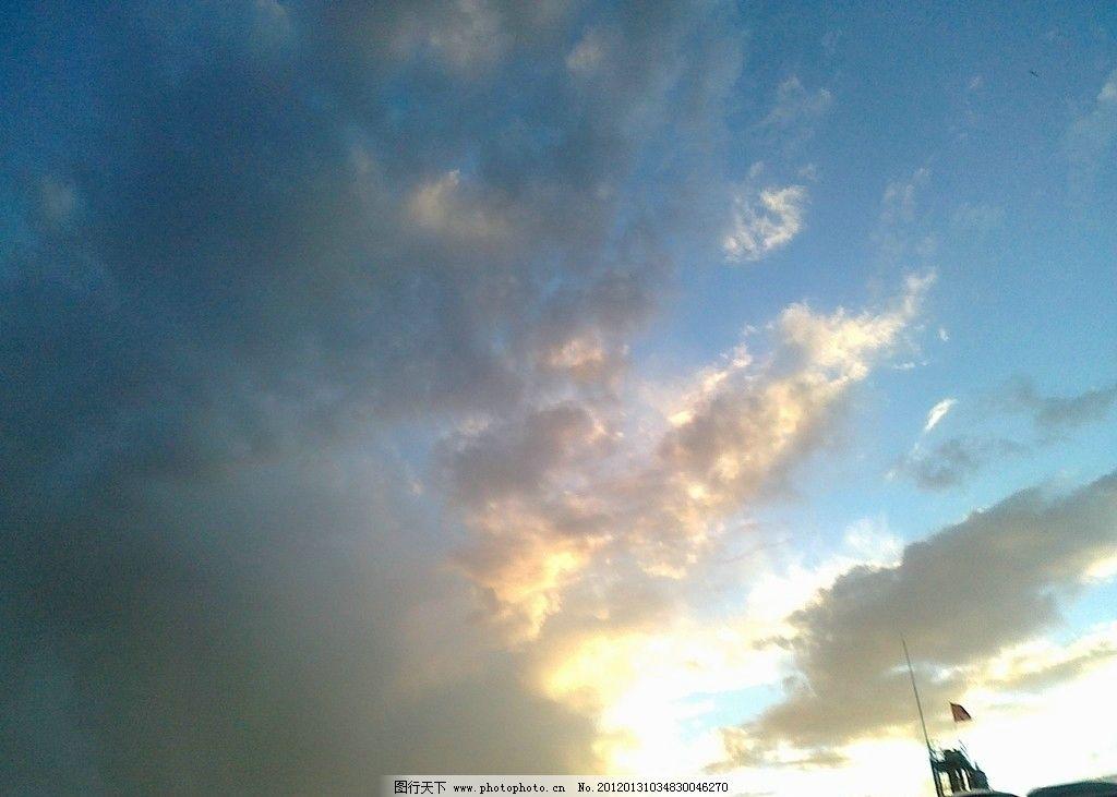 天空的云朵 天空 乌云 自然风景 自然景观 摄影 300dpi jpg