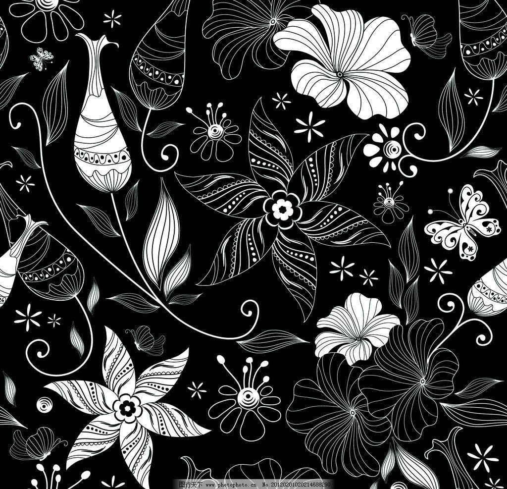黑背景中的线条花纹图片