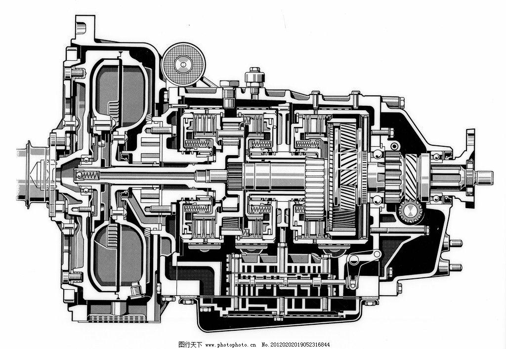 汽车发动机设计构造图纸