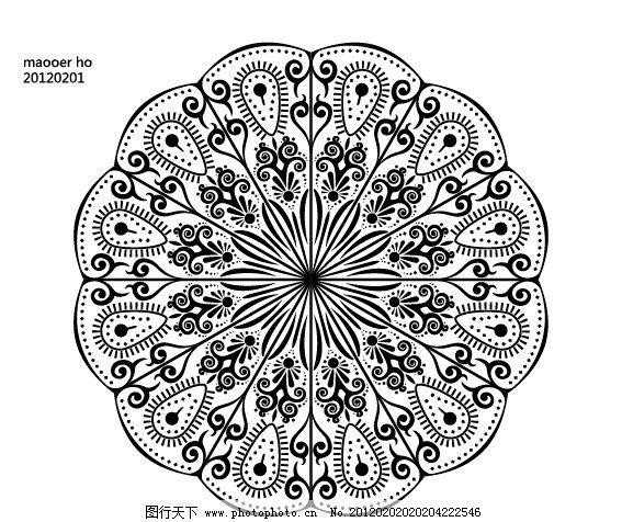孔雀图案 花纹 孔雀 印度 矢量底纹 原创矢量花纹 底纹背景 底纹边框
