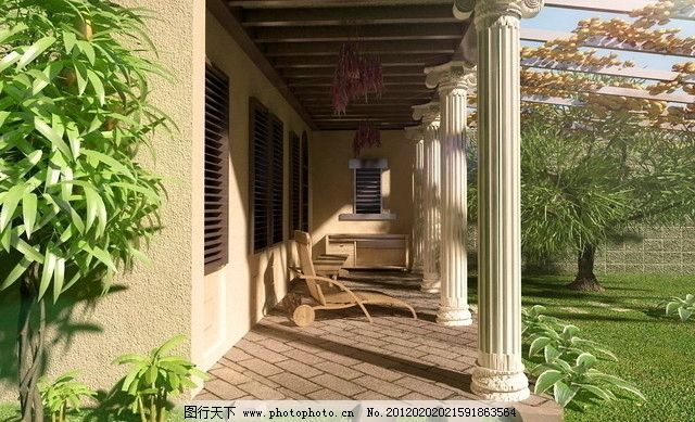 欧式阳台模型 阳台模型 走廊模型 过道模型 罗马柱模型 椅子模型 休息椅模型 植物模型 绿化模型 别墅效果图 别墅模型 绿化 花园 景观模型 景观效果图 效果图模型 其他模型 3D设计模型 源文件 MAX