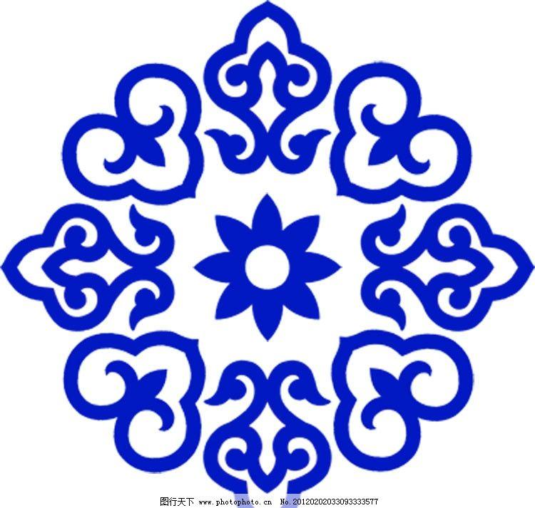 花纹 图案 民族图案 蒙古图案 花边 装饰图案 源文件