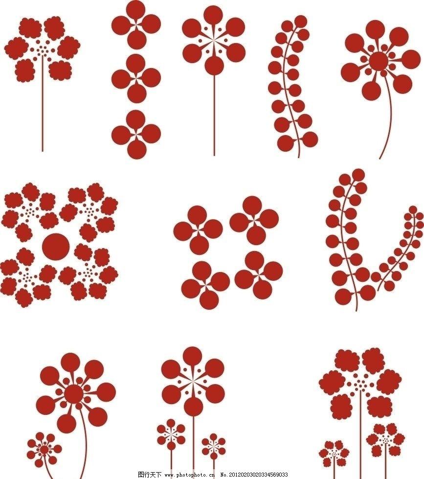 花纹 剪纸 简单花纹 装饰花纹 花纹花边 底纹边框 矢量