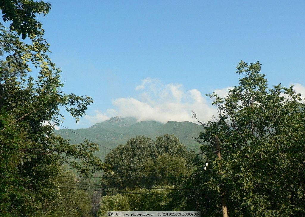 百花山 风景 公园 旅游 绿树 绿山 蓝天 白云 山水风光 山水风景 自