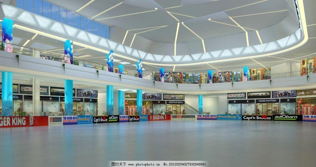 商场溜冰场效果图图片_室内设计_环境设计_图行天下