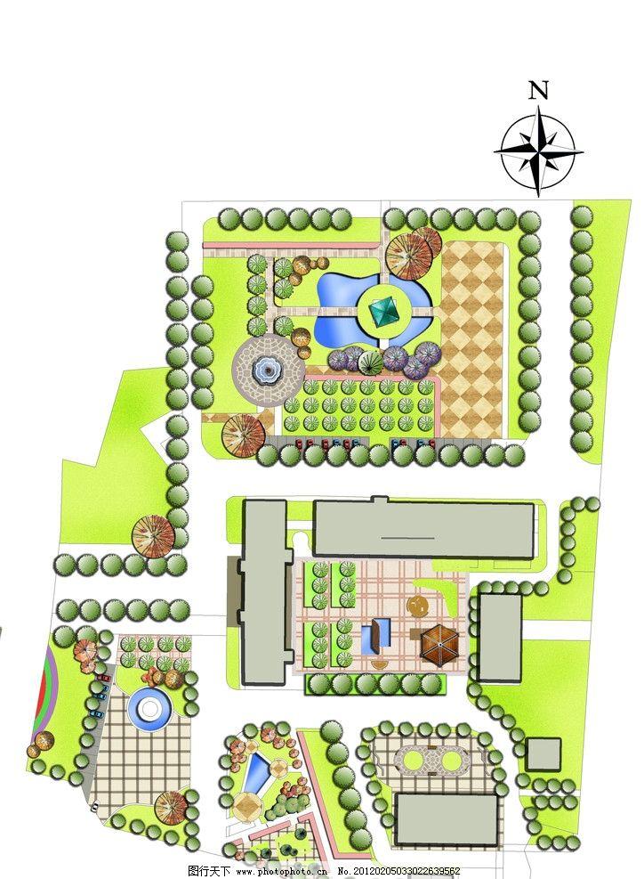 景观设计公司彩色平面图